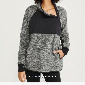 Abercrombie & Fitch asymmetrical fleece